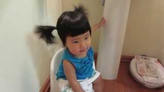 Weekly vlog daily life of mommy and baby: hello potty! 7/7/2013