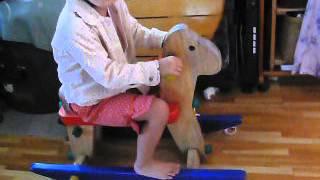 レトロPLAN TOYSプラントイ高品質スウィング木馬 ロッキングホース