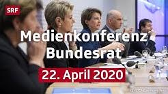 Medienkonferenz des Bundesrats - 22. April 2020 | SRF News