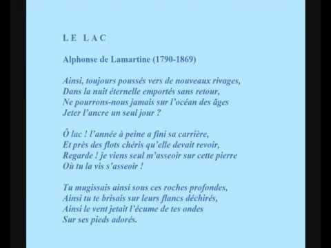 Alphonse de Lamartine -- Poème 'Le Lac' récité par Maria Casarès.