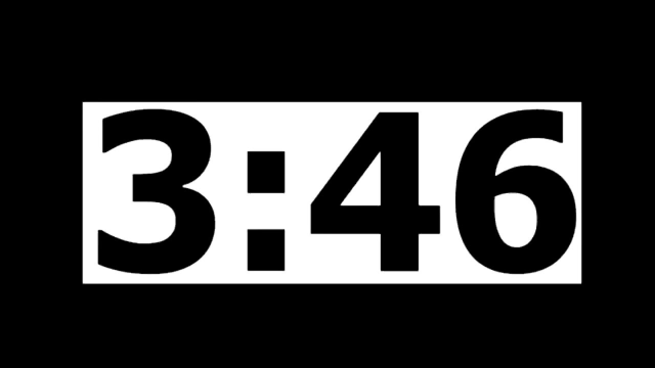 4 minute countdown timer