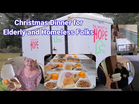 My First Youtube Salary to Christmas Dinner for Homeless Folks and Elderly