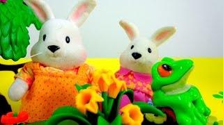Развивающие мультики: Зайчата и Лягушата! Лягушки в пруду