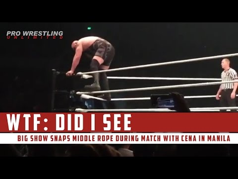 WTF: Big Show Snaps Middle Rope During Match With Cena In Manila
