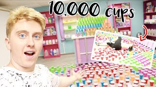 10,000 RED CUPS IN THE SLIMEATORY PRANK ON JUST AMEERAH! She fell?