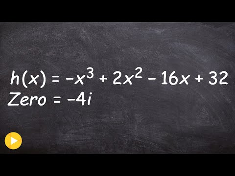 Given A Complex Zero Find The Remaining Zeros Using Synthetic Division