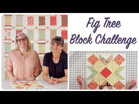 Sugar Plum Block - Fig Tree Block Challenge by Joanna Figueroa - Fat Quarter Shop