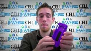 CellJewel.com - ZTE Warp N860 Hybrid Case with KickStand Purple