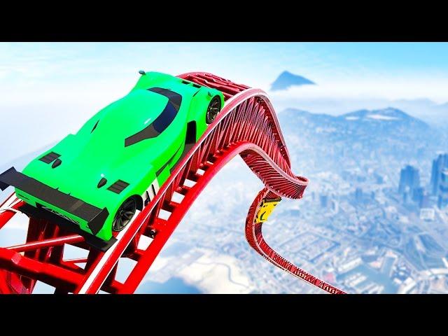 GTA ROLLERCOASTER RACE! (GTA 5 Funny Moments)