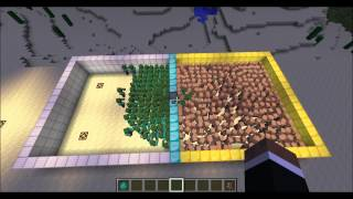 Minecraft Mob Battle - Zombie vs NPC Villagers : Mob vs Mob