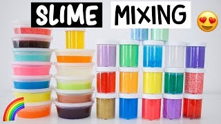 30 DIY SLIME SMOOTHIE! MIXING ALL OF MY SLIMES!