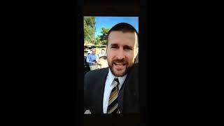 Steven Anderson, Pastor of Faithful Word Baptist Church angrily calling protesters faggots.