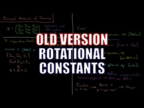 Computational Chemistry - Rotational Constants (Old Version)