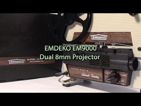 Emdeko SM9000 Dual 8mm Projector w/ Halogen Bulb Conversion