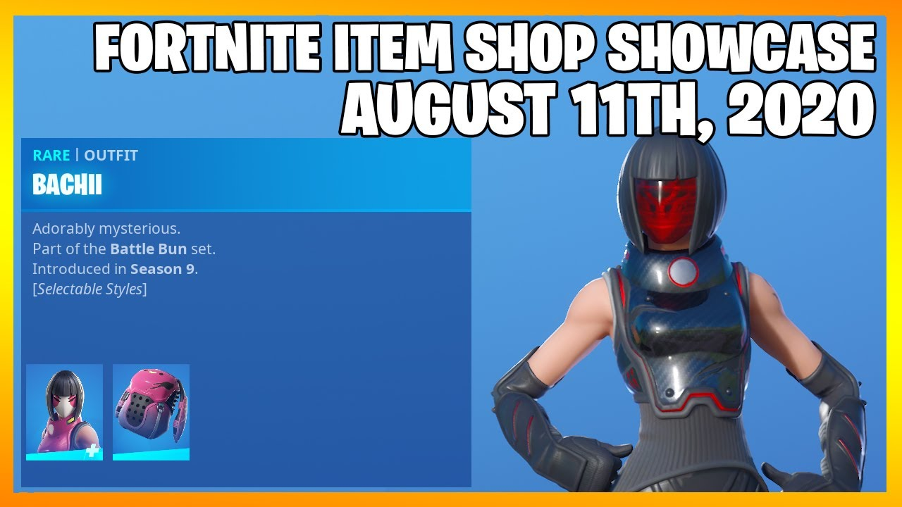 Fortnite Item Shop BACHII IS BACK! [August 11th, 2020] (Fortnite Battle Royale)