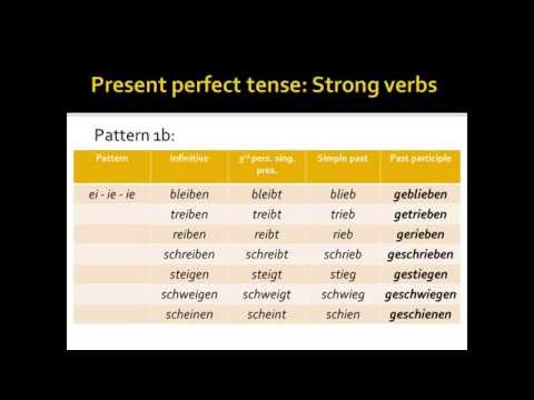 The Present Perfect Tense: German Strong Verbs