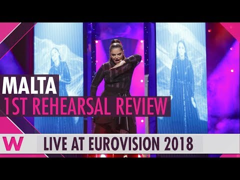 """Malta First Rehearsal: Christabelle """"Taboo"""" @ Eurovision 2018 (Review) 
