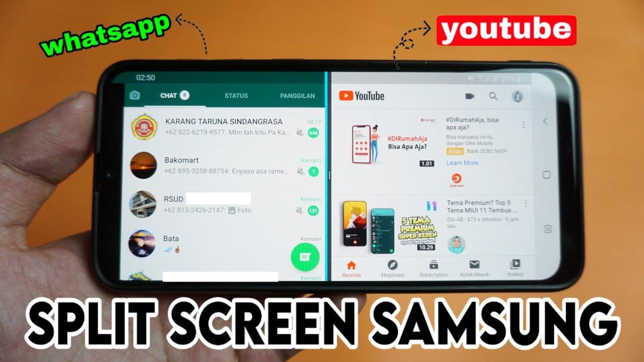 Cara Membagi Layar Hp Samsung Menjadi 2 Split Screen Samsung Youtube
