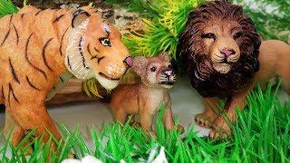 Смелый Львёнок - Тигр и Растишка. Приключения Животных. Мультик про Животных для детей Игрушки ТВ