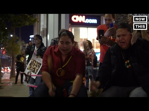 Protests Outside CNN For Lack Of DAPL Coverage
