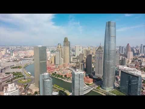 Epic Drone Shots and Time Lapse in Tianjin, China