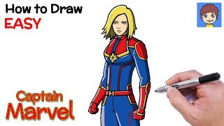 marvel captain draw drawing step