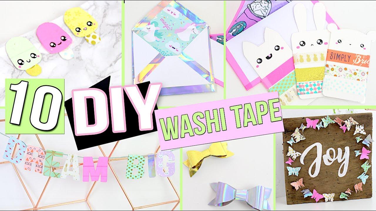 Diy Washi Tape ┋ 10 Idees Originales Deco Chambre Masking