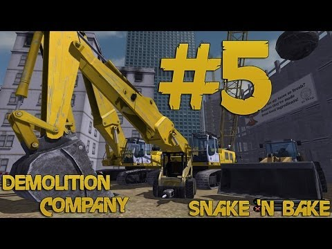 Demolition Company - Let's Play - Part 5 - Wrecking Ball Fail