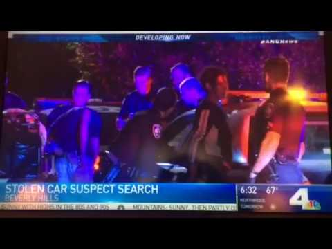 Beverly Hills Police CAR CHASE News Report