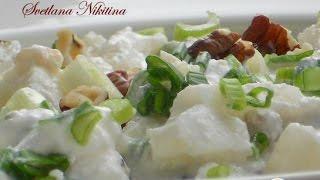Салат из цветной капусты с творогом