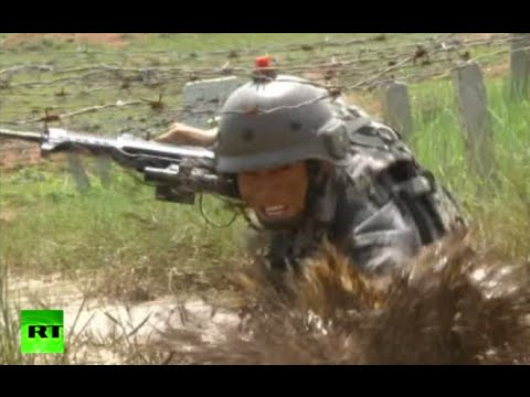 Running, Gunning & Swimming: China military drills