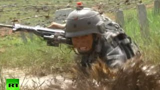 Running, Gunning & Swimming: China military drills
