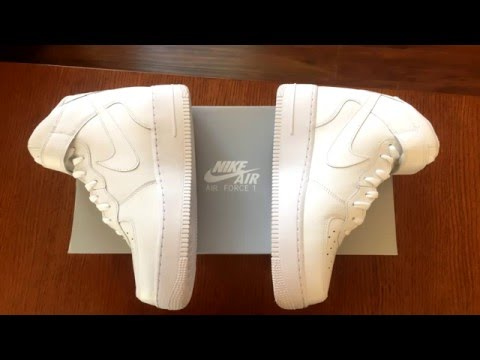 Nike Air Mid Force 1 Mid Air Blanco Unboxing!Youtube 8cd7a0