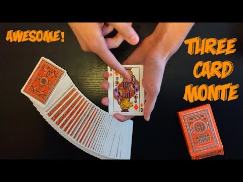 Surprise Three Card Monte Card Trick: Performance And Tutorial!