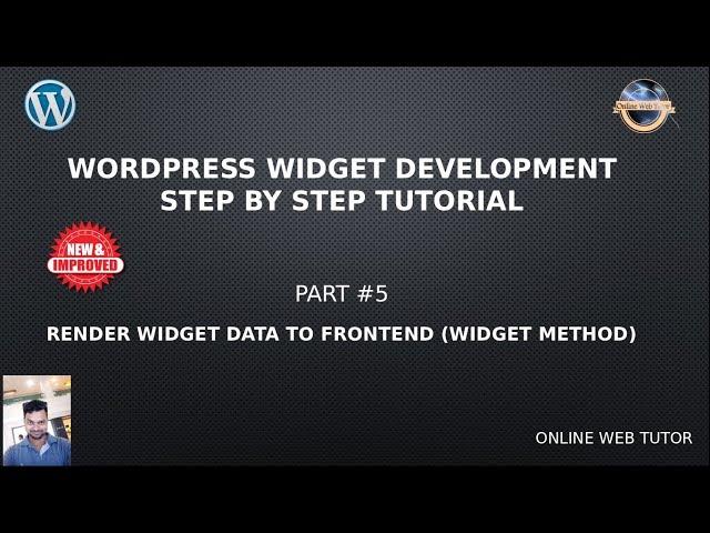 Wordpress Widget Development Beginner Tutorials Step by Step #5 - Render Widget Data to Frontend