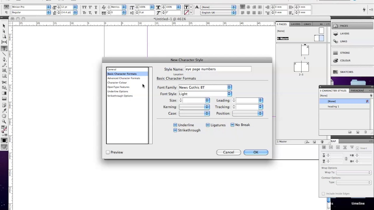 Adobe InDesign Tutorials: Adding Page Numbers using Master ...