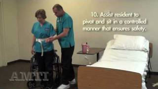Cna Skills: Transfer From Bed To Wheelchair Using A Gait Belt