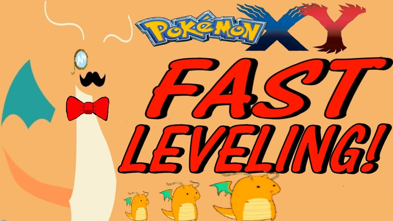 pokemon x and y how to level up fast youtube