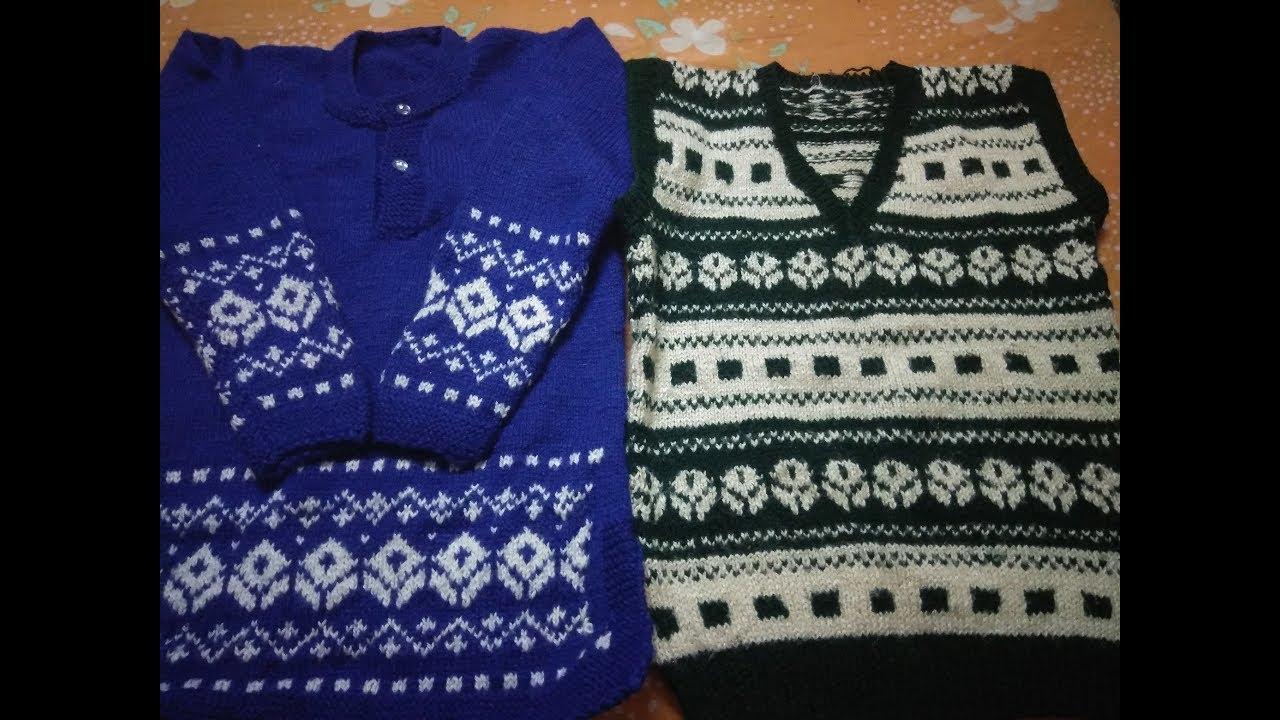 4a78da942 Double colour sweater design in Hindi - YouTube