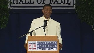 Henderson gives his Hall of Fame induction speech