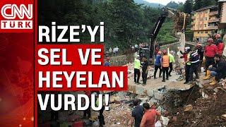 Rize'deki sel felaketinde ölü sayısı yükseldi! Rize'de son durum!