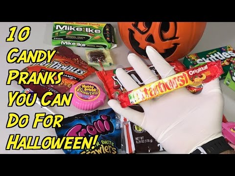 10 Halloween Pranks You Can Do With Candy - HOW TO PRANK (Evil Booby Traps)