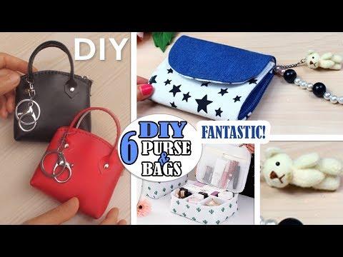 6 CUTE DIY POUCH BAG TUTORIALS Purse Bag You Can Make At Home Easy
