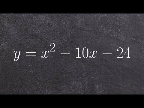 Tutorial - How to solve a quadratic by factoring in your head y= x^2-10x-24