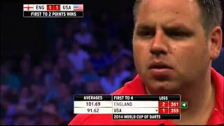 England v USA | Round 2 | Taylor/Lewis v Young/Butler | Word Cup of Darts 2014