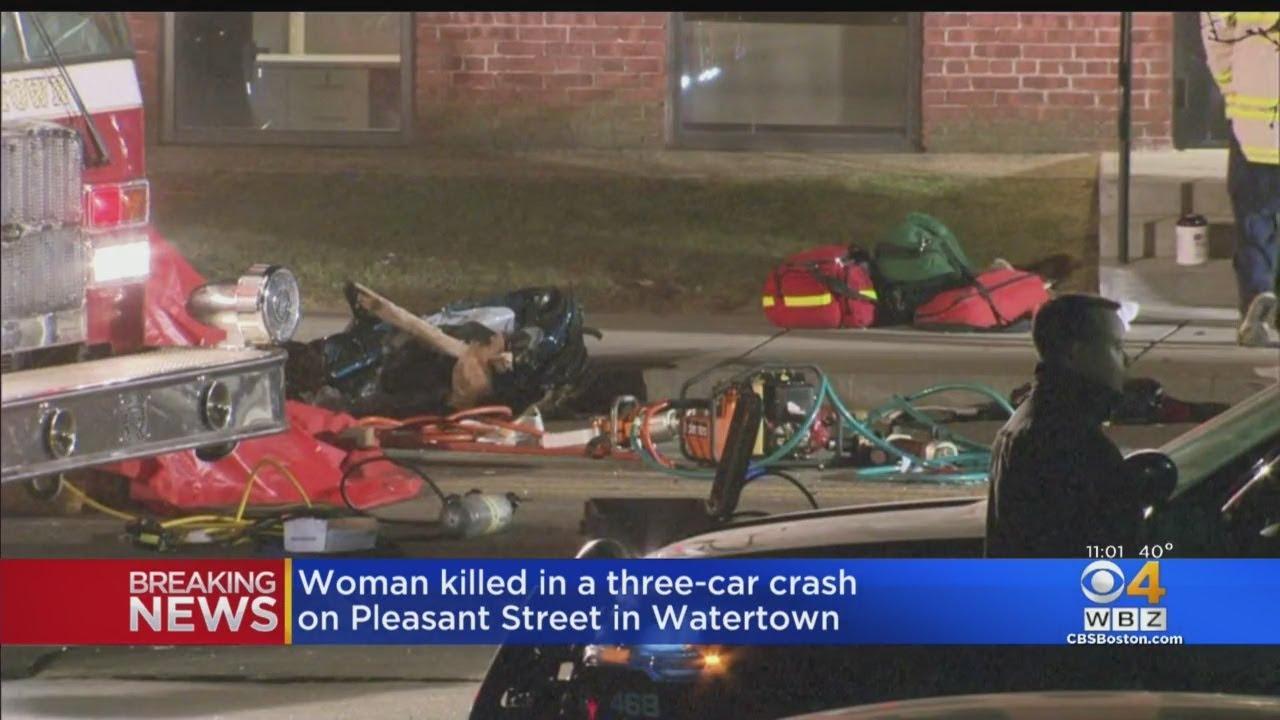 Woman Killed In 3-Car Crash In Watertown