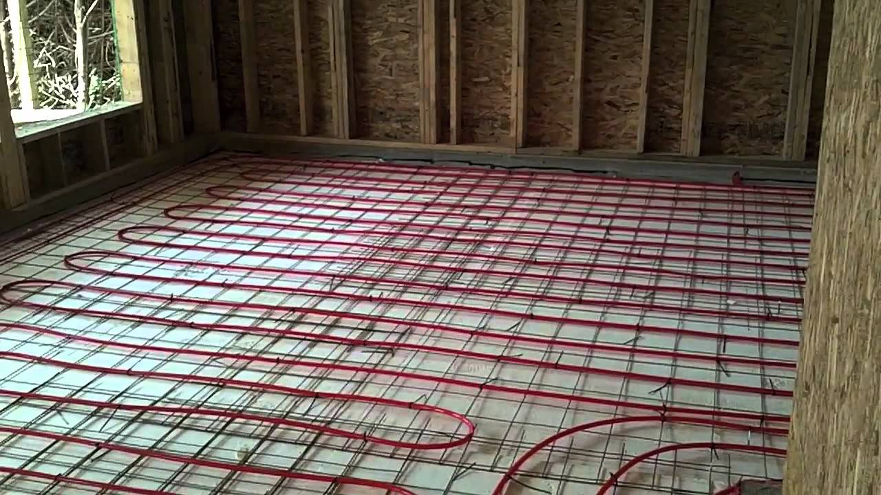 How We Install Radiant In Floor Heat   YouTube