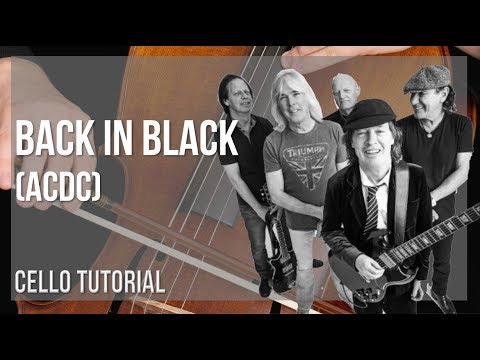 How to play Back in Black by ACDC on Cello (Tutorial)