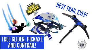 FREE GLIDER, TRAIL AND PICK AXE! FORTNITE BATTLE ROYALE! Playstation plus celebration pack 3!