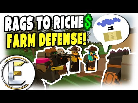 SWAT RAID FARM DEFENSE!   Unturned Roleplay (Rags to Riches #50) from YouTube · Duration:  21 minutes 16 seconds